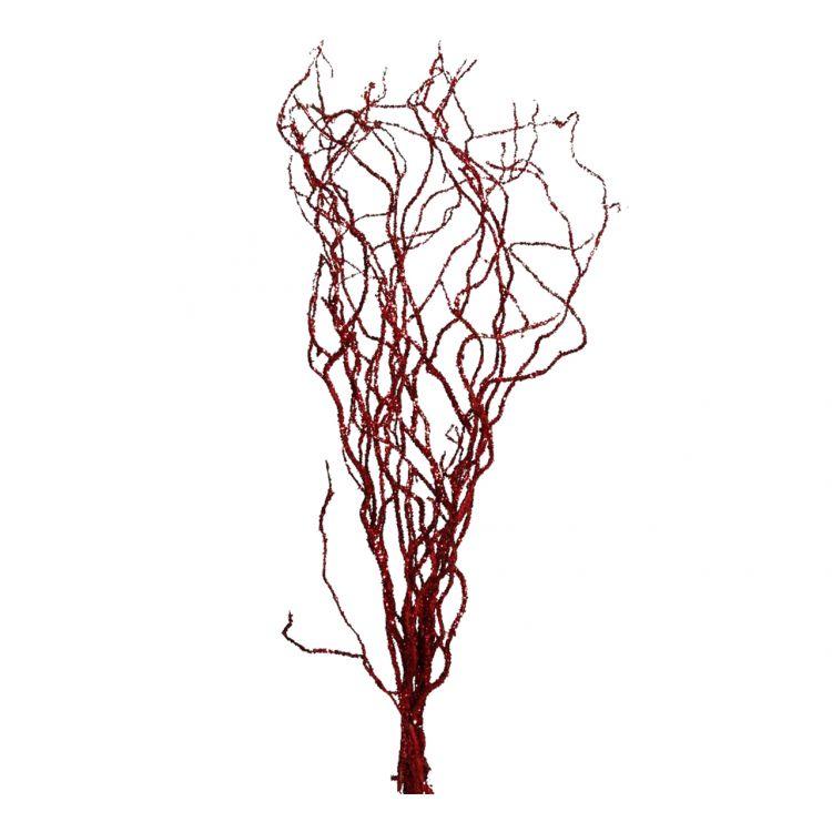 10 Glittertakken Rood 120 cm