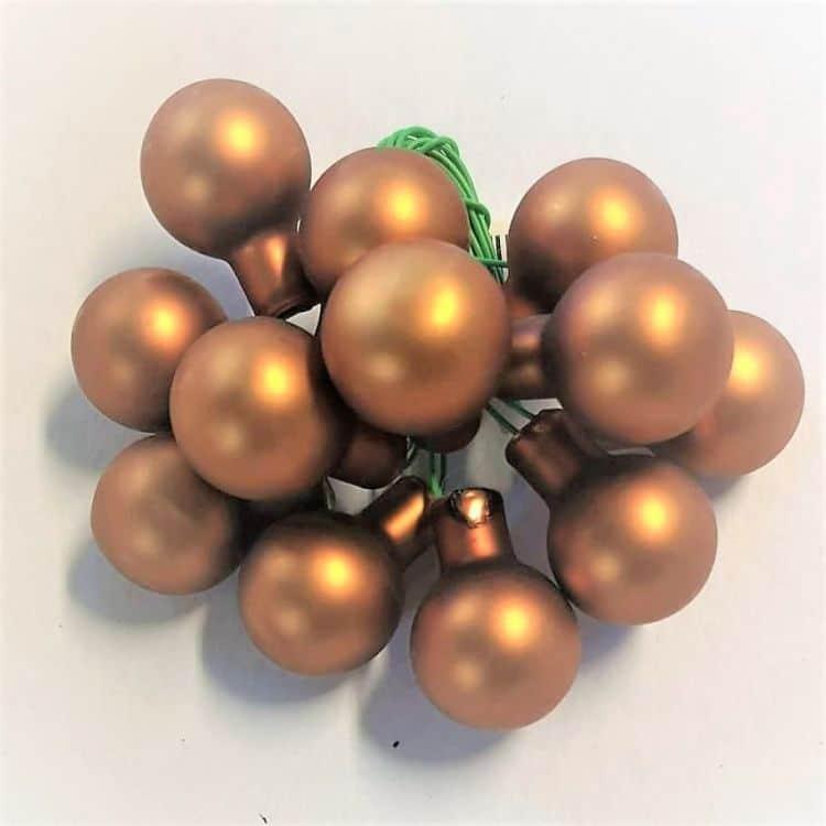 10 Kerstballetjes  Koper 2 cm