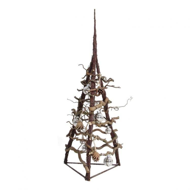 3D Kerstboom Naturel 100 cm
