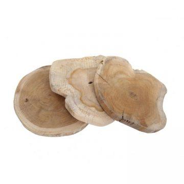 3 Hardhout Schijven ±15-20 cm