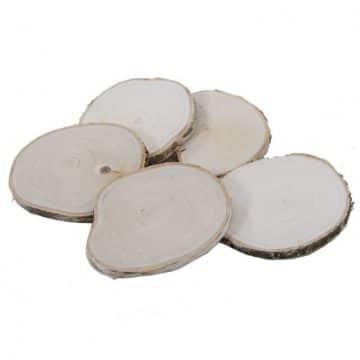 5 Houtschijven 12-15 cm (gladde afwerking)