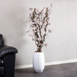 Bloesem kronkel boom zacht Roze ± 140 cm (excl. pot)