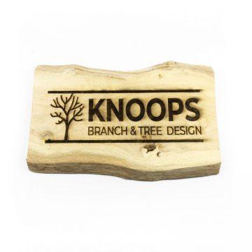 Brocante plank met Foto/Logo en Tekst ± 40 cm