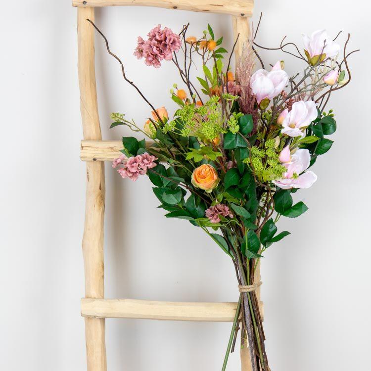 DIY-Pakket Boeket Roze/ Oranje H 80 cm