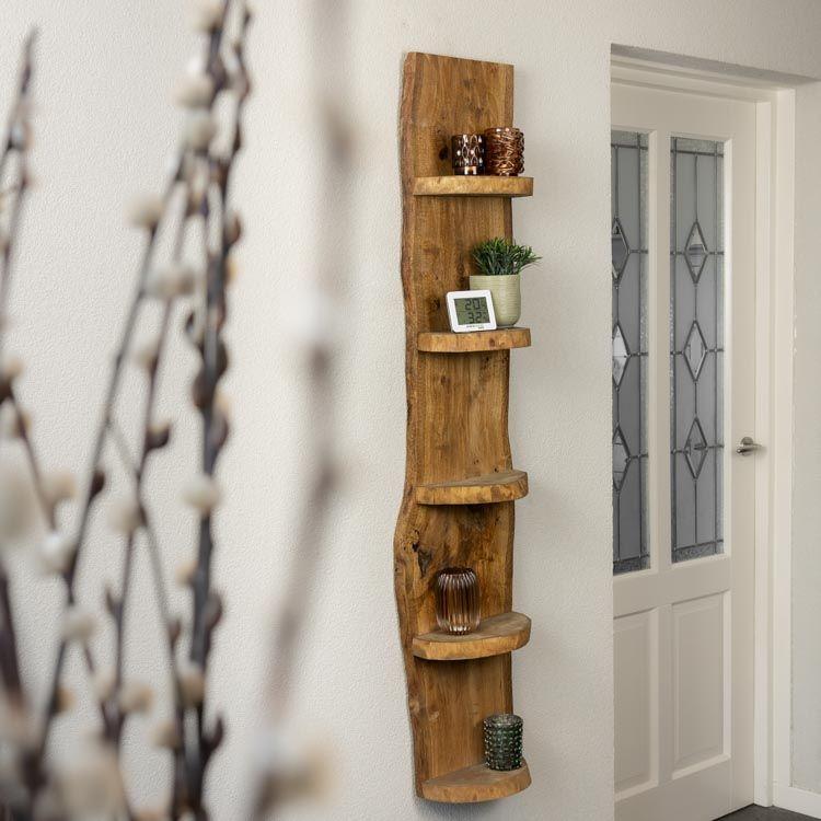 Eiken Boomstam Hang Wand Rek Oak
