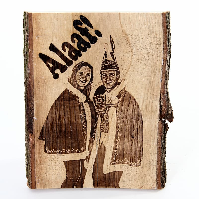 Eiken plank met Eigen Foto en Tekst ± 40 cm