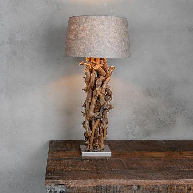 Tafellamp Brocante Perentakken met kleur keuze Lampen Kap