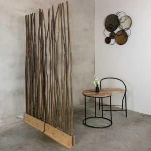 Roomdivider Naturel Wilg 60 cm x 165 cm