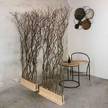 Roomdivider Naturel Takken 60 cm x 165 cm