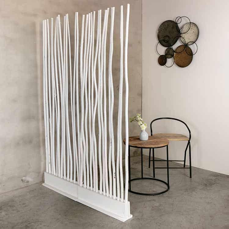 Roomdivider Wilg Wit 60 cm x 165 cm