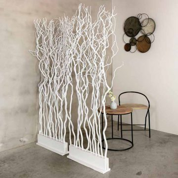 Roomdivider Takken Wit. 60 cm x 165 cm
