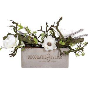 Logo gepersonaliseerd op bloembak incl. decoratie