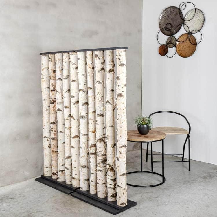 Roomdivider Berk Zwart H 140 x B 60 cm