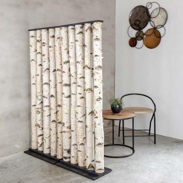 Roomdivider Berk Zwart H 165 x B 60 cm
