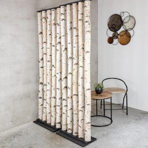 Roomdivider Berk Zwart H 200 x B 60 cm