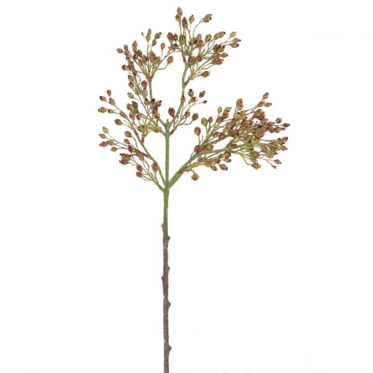 Tak Wilde Rozen Besjes Rood-Groen 55cm