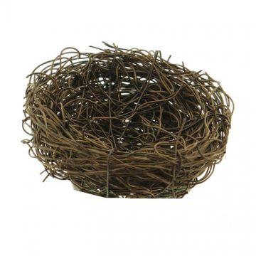 Vogelnestje Bruin 9 cm