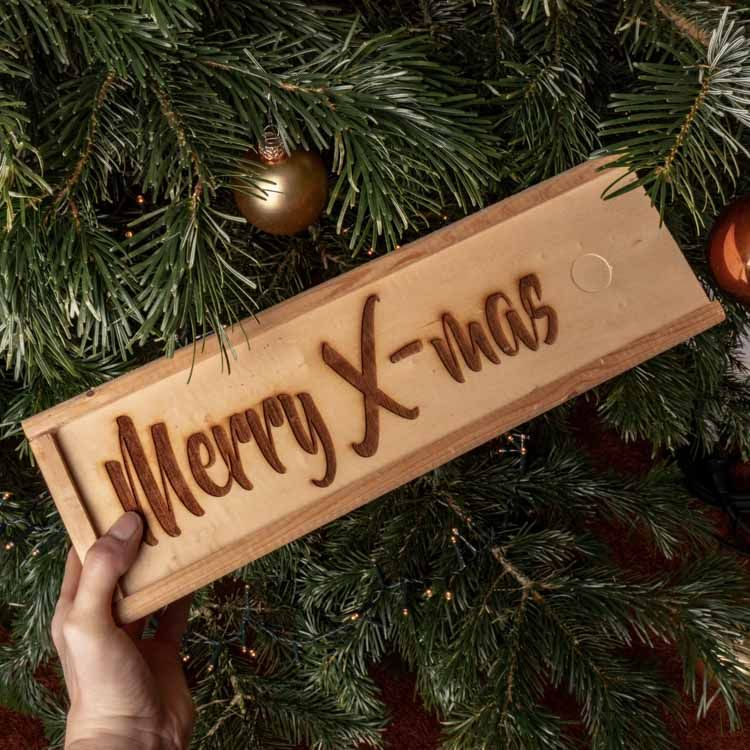 Wijnkist Merry X- mas