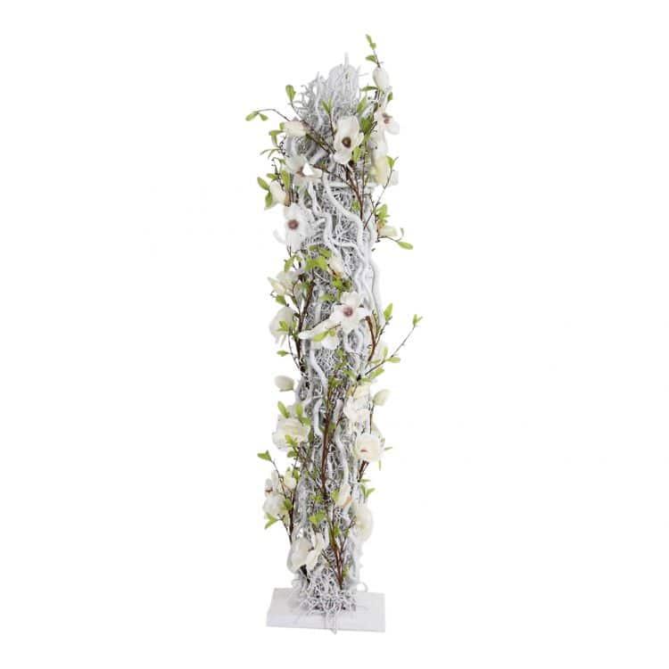 Bloemen Zuil Wit H ± 150 cm