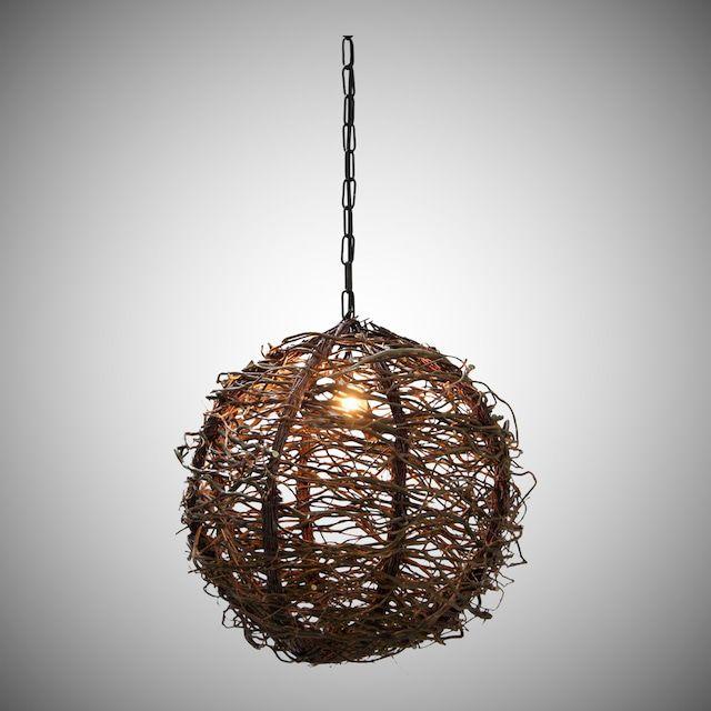 Bollamp met Decoratietakken 30 cm