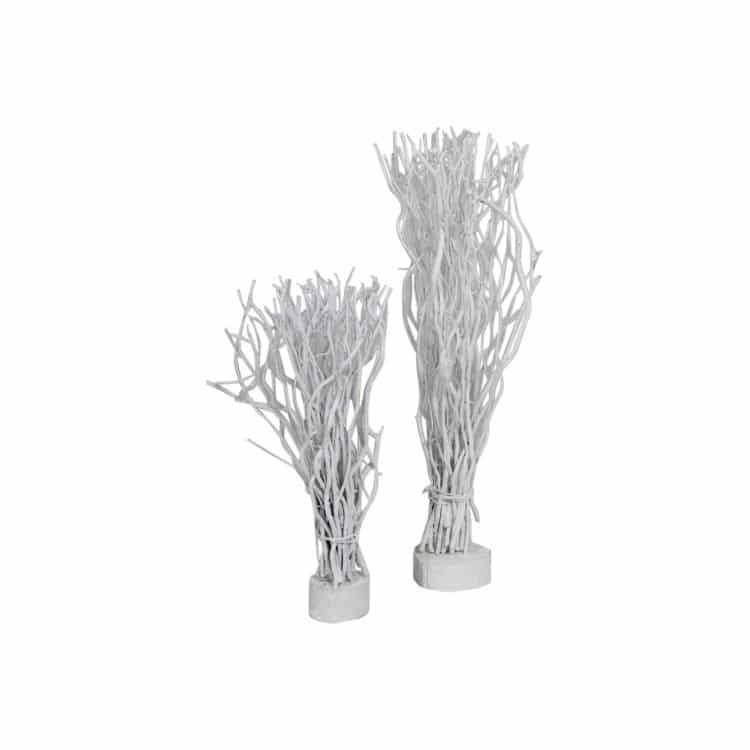 Bosje Decoratietakken Wit op voet 45 cm