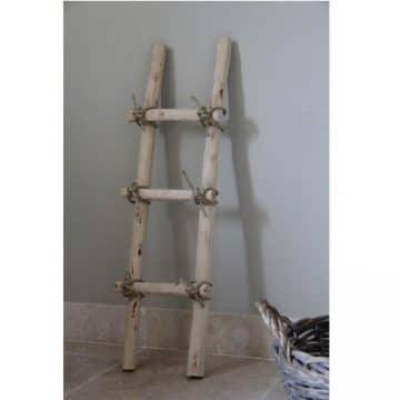 Decoratie Ladder Brocant met touw 100 cm