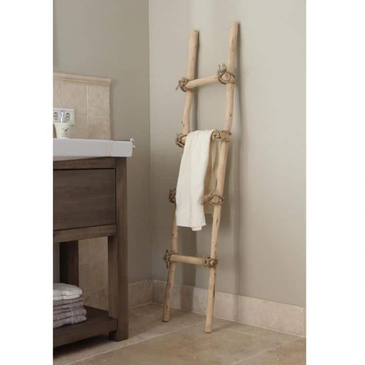 Decoratie Ladder Brocant met touw 150 cm