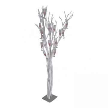 Champagneboom Wit 165 cm 25 Haken
