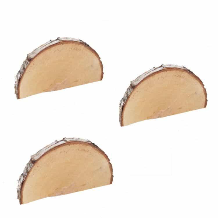 3 Halve Houtschijven 15-20 cm