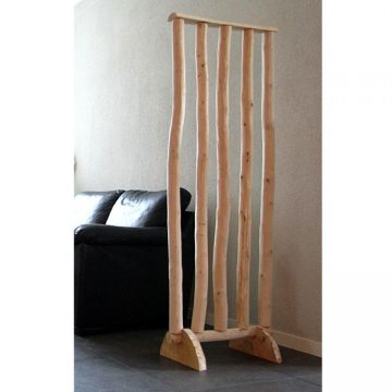 Roomdivider Brocant  met houten voetsteunen H 180 x B 60 cm
