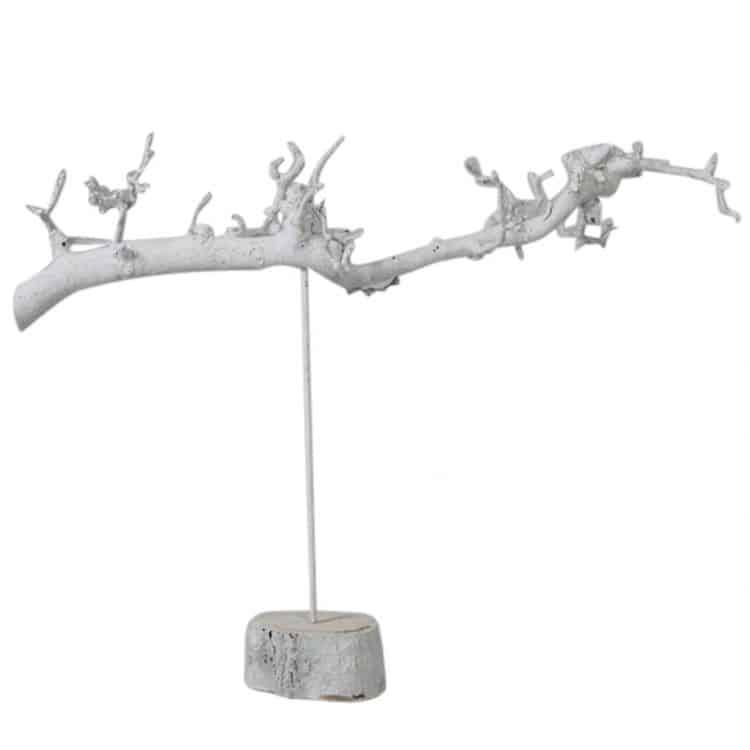 Decoratietak Wit op Voetstuk 70 cm