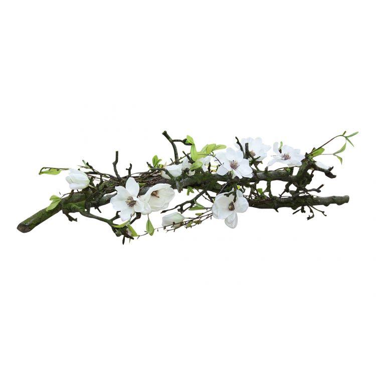 Decoratie Witte Magnolia. Br ± 85 cm