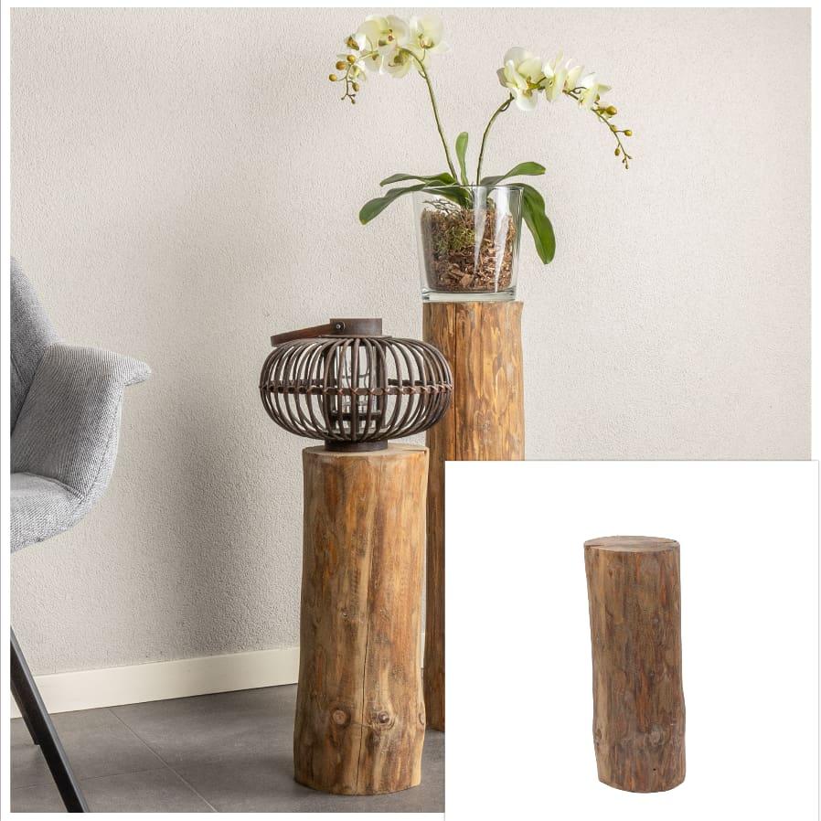Boomstam zuil Oak D ± 15 cm- 20 cm H 50 cm