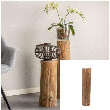 Boomstam zuil Oak D ± 15 cm- 20 cm H 70 cm