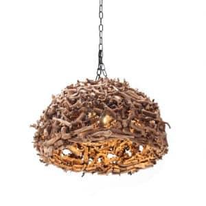 Hanglamp Wood Diameter 50 cm
