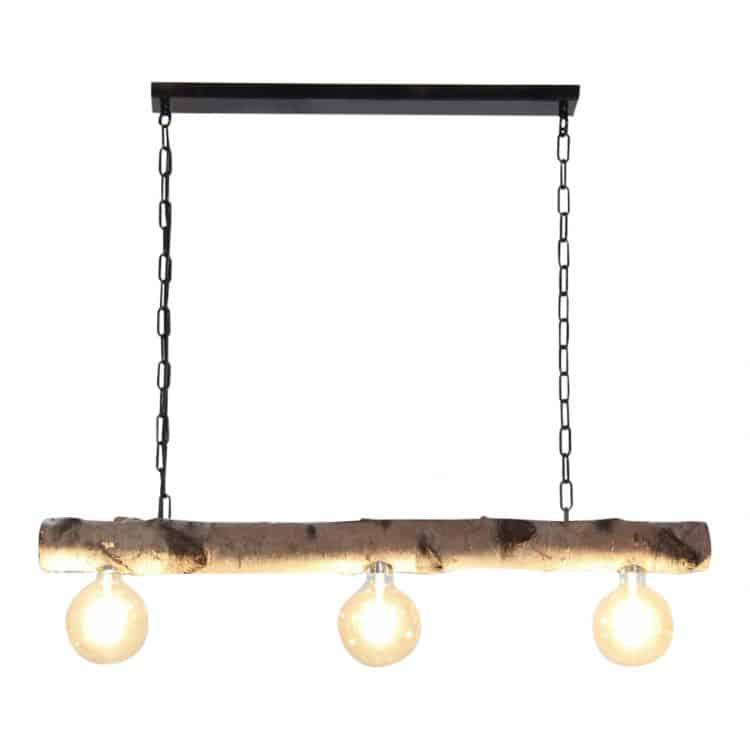 Hanglamp Berkenstam met 3 Lichtpunten