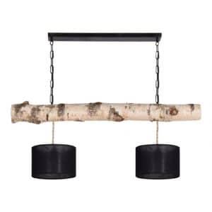 Hanglamp Berkenstam cilinder Lampenkapjes