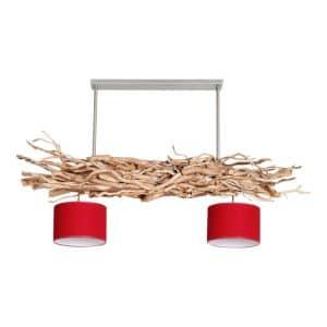 Hanglamp Brocante Kronkeltakken met cilinder Lampenkapjes (135 cm)