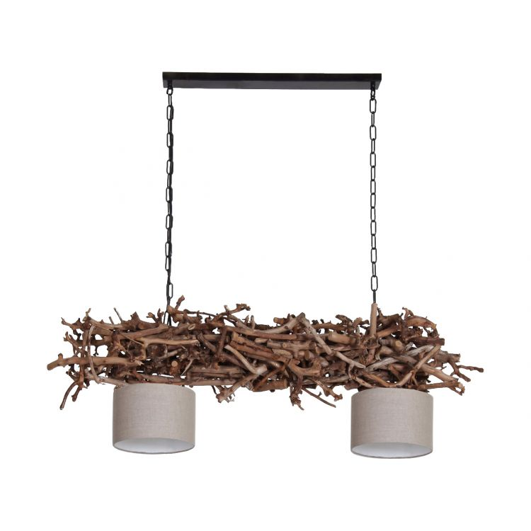 Hanglamp Brocante Perentakken met cilinder Lampenkapjes