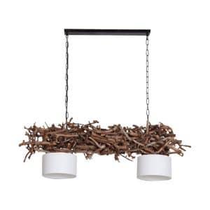 Hanglamp Brocante Perentakken met Witte Lampenkapjes