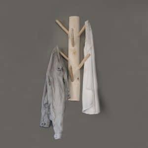 Wandgarderobe 6 houten haken 70 cm