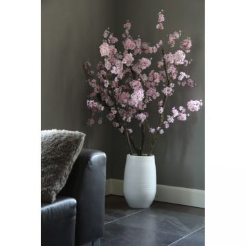 Roze Bloesemboom Dubbel ± 150 cm (incl.witte pot)