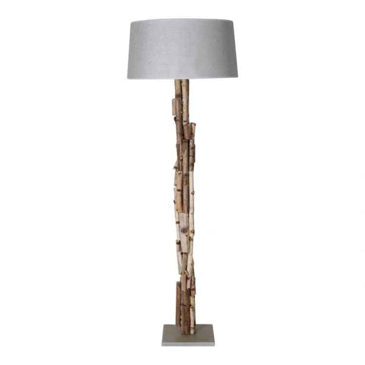 Staande Lamp Berkentakken met kleur keuze Lampen Kap