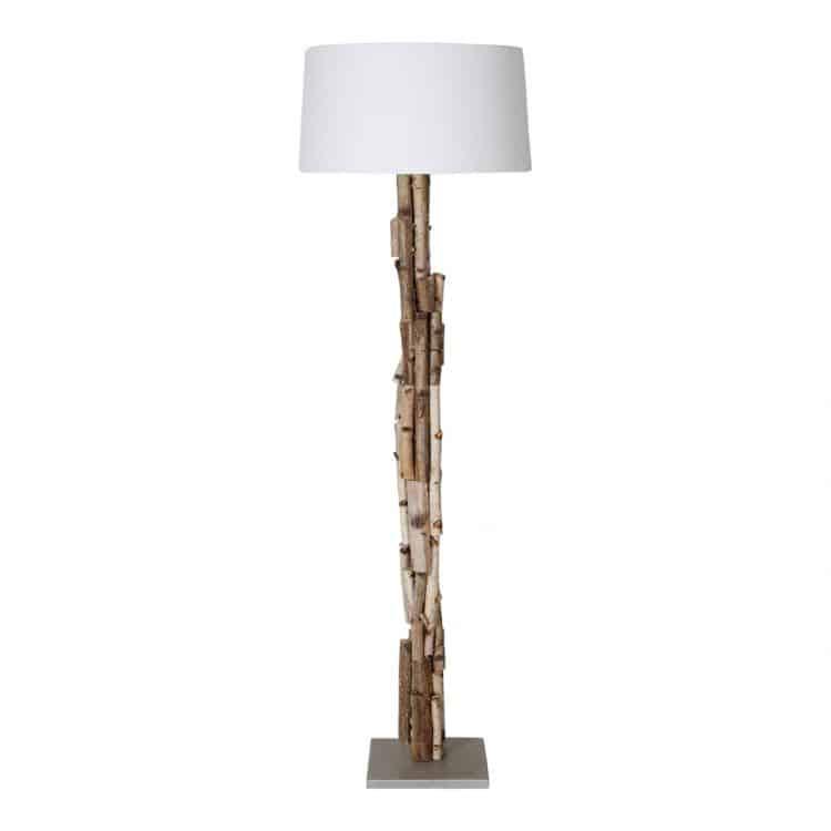 Staande Lamp Berkentakken met Witte Kap
