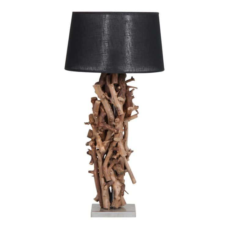 Tafellamp Brocante Perentakken met Zwarte Kap