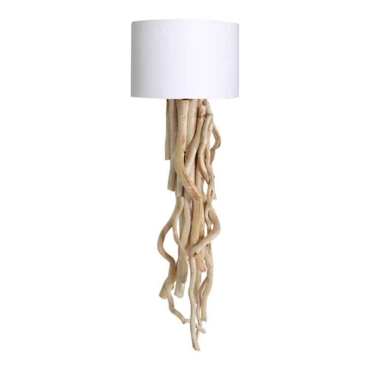 Wandlamp Brocante Takken met Witte Kap