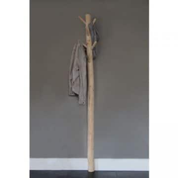 Wandkapstok 6 houten haken 165 cm